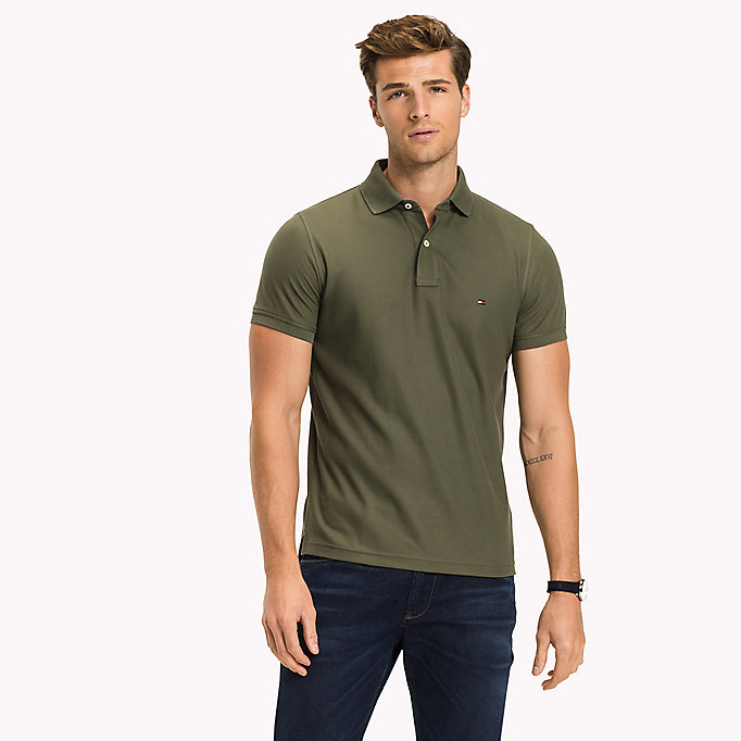 TOMMY HILFIGER Slim Fit Polo Shirt - INFINITY - TOMMY HILFIGER Men - main image