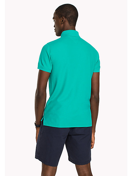 TOMMY HILFIGER Slim fit polo - SPECTRA GREEN - TOMMY HILFIGER T-Shirts & Polo's - detail image 1