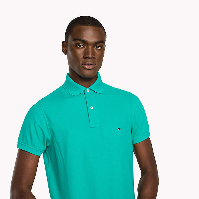 TOMMY HILFIGER Slim Fit Polo Shirt - POSY GREEN - TOMMY HILFIGER Clothing - detail image 2