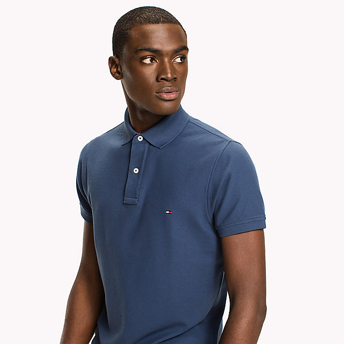 TOMMY HILFIGER Slim Fit Polo Shirt - SILVER FOG HTR - TOMMY HILFIGER Clothing - detail image 2