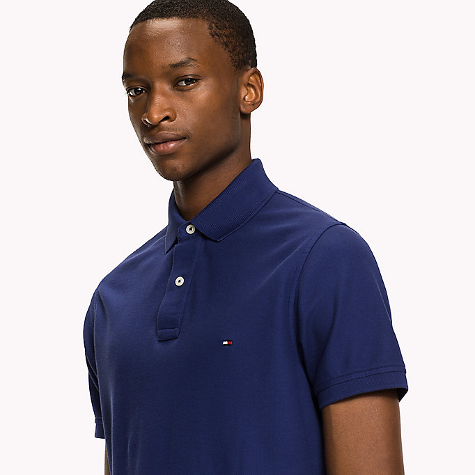 TOMMY HILFIGER Slim Fit Polo Shirt - FOUR LEAF CLOVER - TOMMY HILFIGER Men - detail image 2