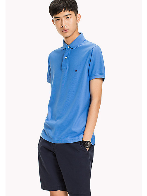 TOMMY HILFIGER Slim fit polo - REGATTA - TOMMY HILFIGER T-Shirts & Polo's - main image