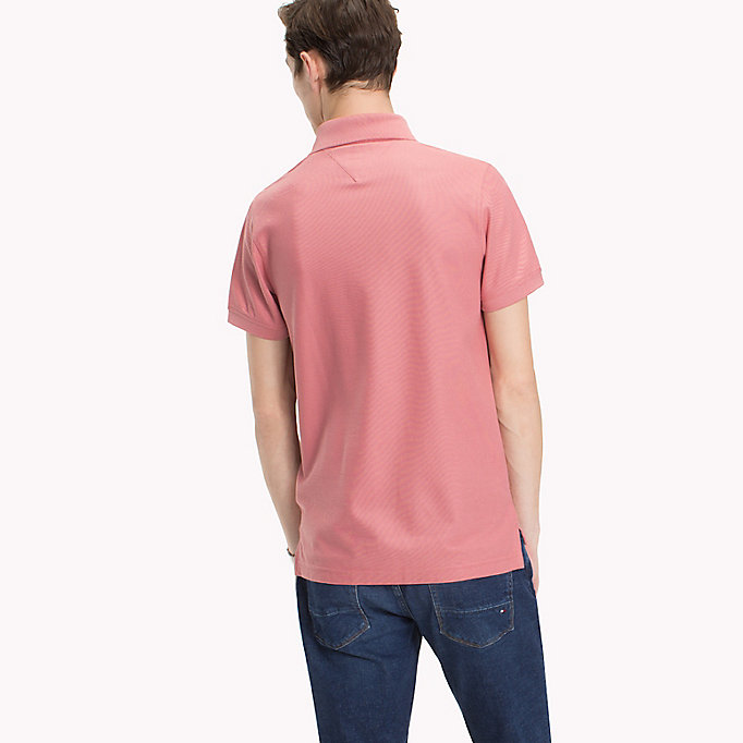 TOMMY HILFIGER Slim Fit Polo Shirt - HOT CORAL - TOMMY HILFIGER Clothing - detail image 1