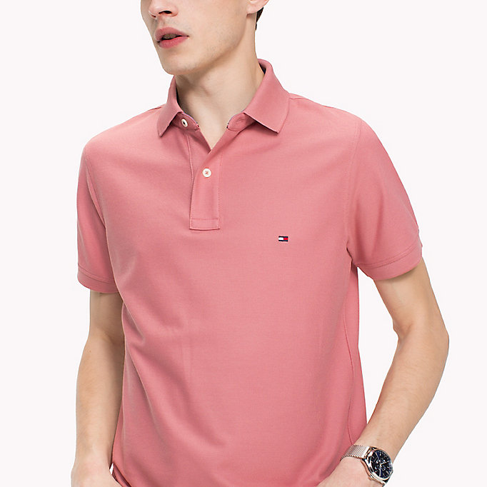 TOMMY HILFIGER Slim Fit Polo Shirt - HOT CORAL - TOMMY HILFIGER Clothing - detail image 2