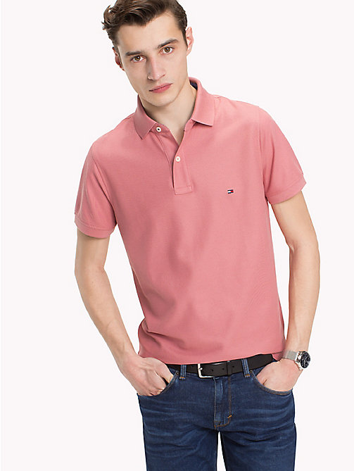 TOMMY HILFIGER Slim fit polo - DUSTY ROSE - TOMMY HILFIGER T-Shirts & Polo's - main image