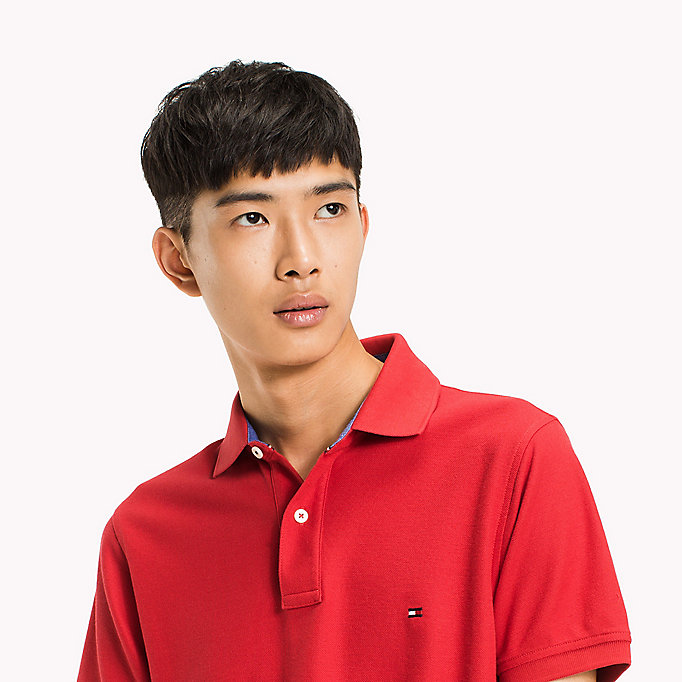 TOMMY HILFIGER Slim Fit Polo Shirt - DEEP DEPTHS - TOMMY HILFIGER Men - detail image 2