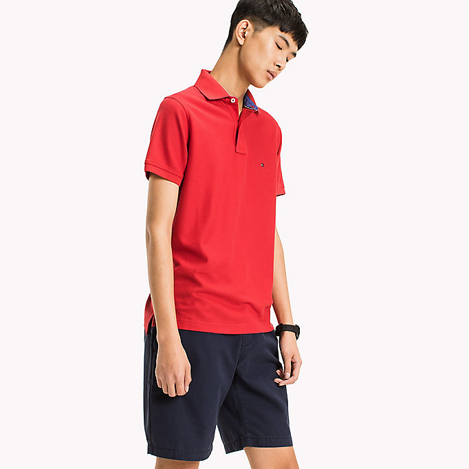 TOMMY HILFIGER Slim Fit Polo Shirt - DEEP DEPTHS - TOMMY HILFIGER Men - main image