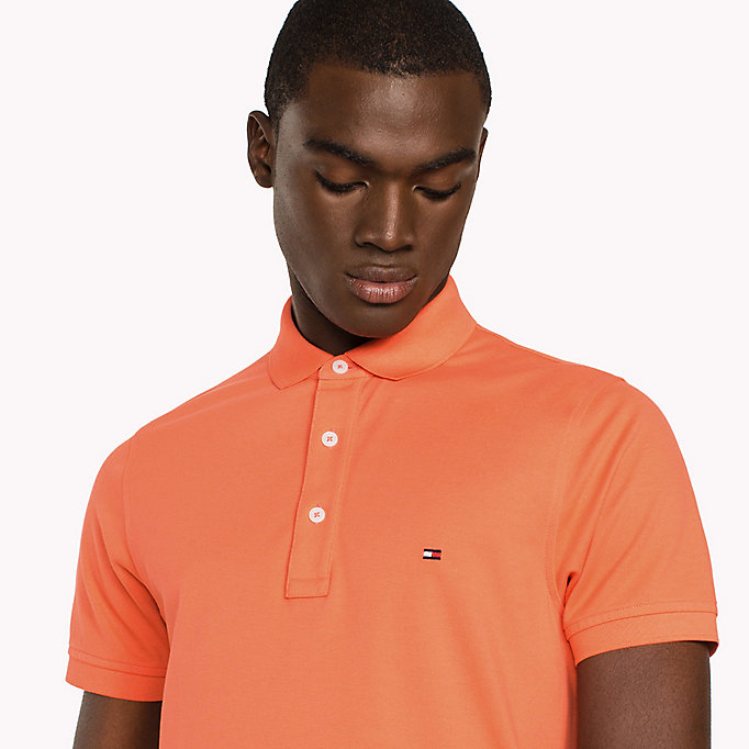 TOMMY HILFIGER Slim Fit Polo Shirt - DUSTY ROSE - TOMMY HILFIGER Men - detail image 2