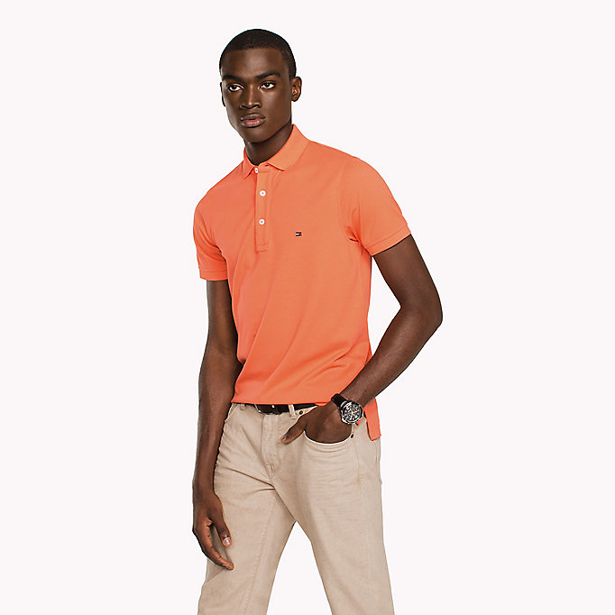TOMMY HILFIGER Slim Fit Polo Shirt - SPECTRA GREEN - TOMMY HILFIGER Clothing - main image