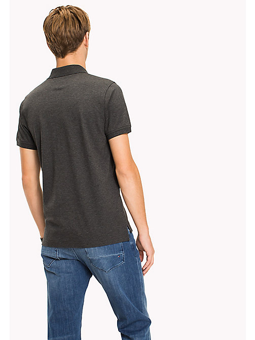 TOMMY HILFIGER Katoenen slim fit polo - CHARCOAL HEATHER - TOMMY HILFIGER T-Shirts & Polo's - detail image 1