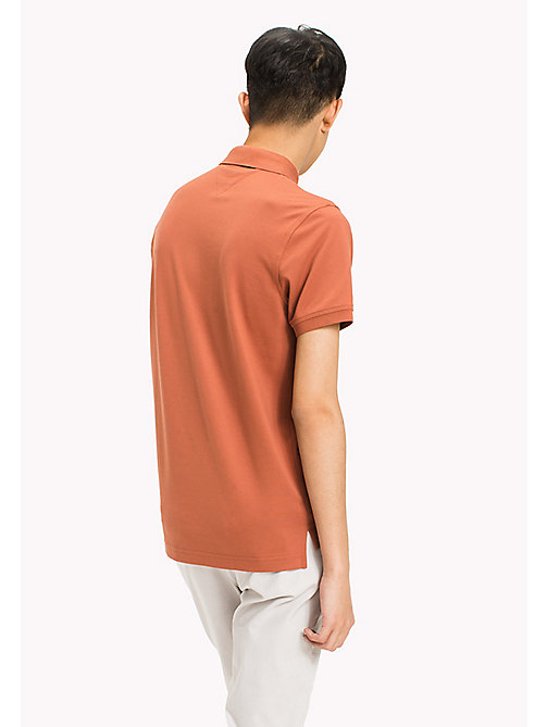 TOMMY HILFIGER Katoenen slim fit polo - CHUTNEY - TOMMY HILFIGER T-Shirts & Polo's - detail image 1