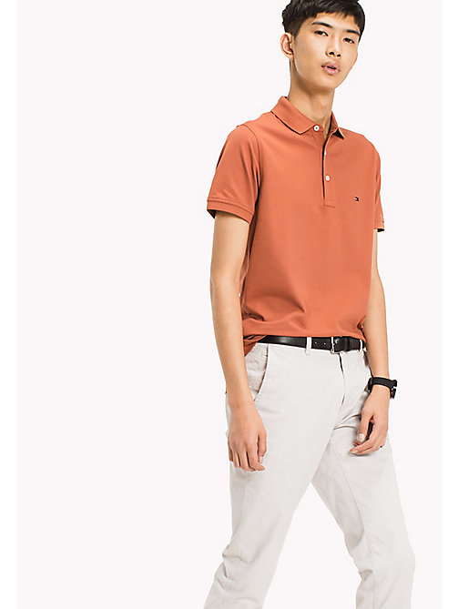 TOMMY HILFIGER Katoenen slim fit polo - CHUTNEY - TOMMY HILFIGER T-Shirts & Polo's - main image