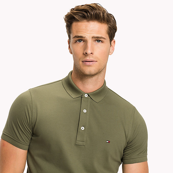 TOMMY HILFIGER Cotton Slim Fit Polo Shirt - GRANITE GRAY - TOMMY HILFIGER Men - detail image 2