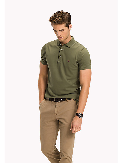 TOMMY HILFIGER Slim Fit-Polohemd aus Baumwolle - FOUR LEAF CLOVER - TOMMY HILFIGER Poloshirts - main image