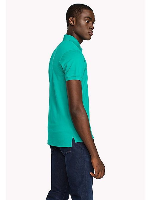 TOMMY HILFIGER Slim Fit-Polohemd aus Baumwolle - SPECTRA GREEN - TOMMY HILFIGER Poloshirts - main image 1
