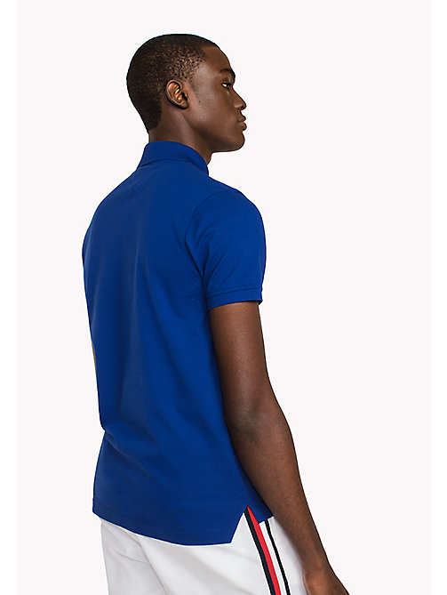 TOMMY HILFIGER Katoenen slim fit polo - SODALITE BLUE - TOMMY HILFIGER T-Shirts & Polo's - detail image 1