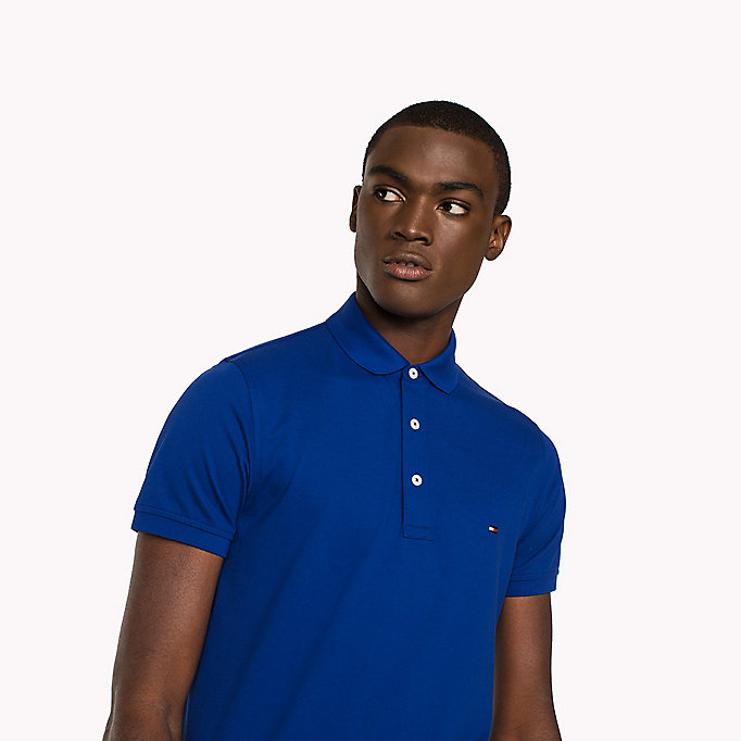 TOMMY HILFIGER Cotton Slim Fit Polo Shirt - RHUBARB - TOMMY HILFIGER Men - detail image 2
