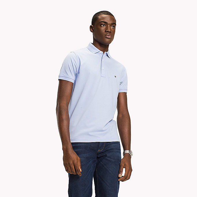 TOMMY HILFIGER Cotton Slim Fit Polo Shirt - CHUTNEY - TOMMY HILFIGER Men - main image