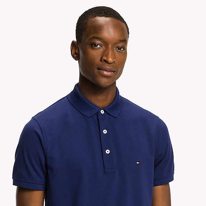 TOMMY HILFIGER Cotton Slim Fit Polo Shirt - CHARCOAL HEATHER - TOMMY HILFIGER Men - detail image 2