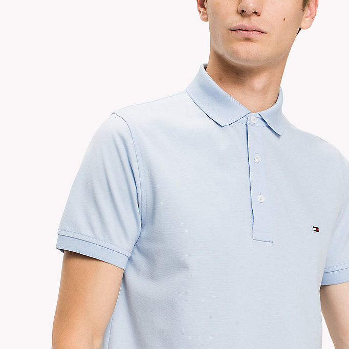 TOMMY HILFIGER Cotton Slim Fit Polo Shirt - DUTCH BLUE - TOMMY HILFIGER Men - detail image 2