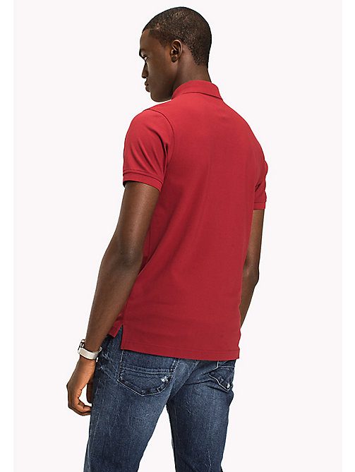 TOMMY HILFIGER Slim Fit-Polohemd aus Baumwolle - RHUBARB - TOMMY HILFIGER Poloshirts - main image 1