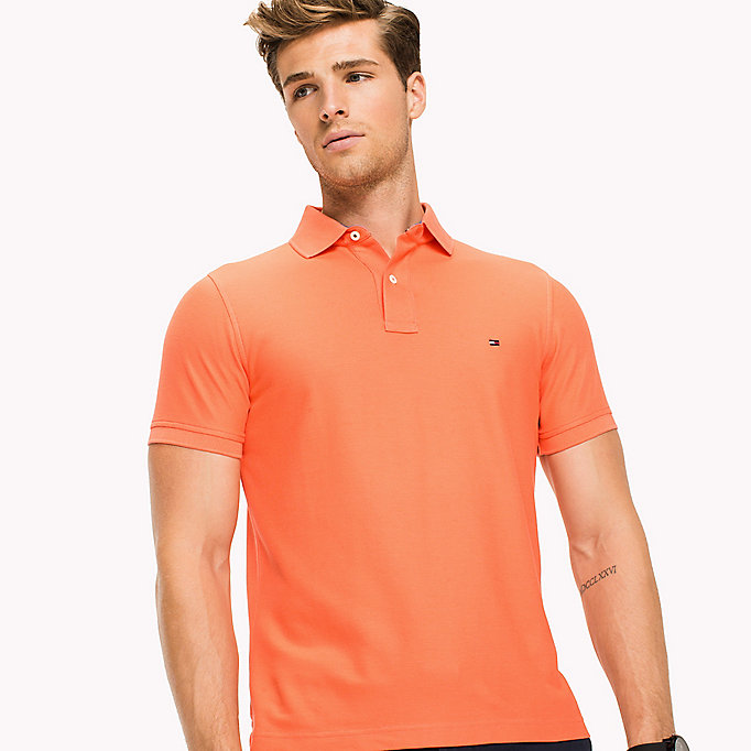 TOMMY HILFIGER Cotton Slim Fit Polo Shirt - SPECTRA GREEN - TOMMY HILFIGER Men - detail image 2