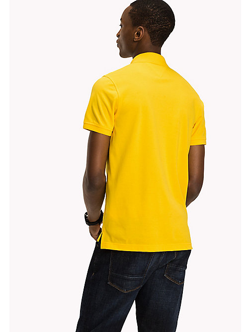 TOMMY HILFIGER Katoenen slim fit polo - LEMON - TOMMY HILFIGER Polo's - detail image 1