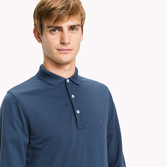 TOMMY HILFIGER Core Modern Slim Polo - DEEP DEPTHS - TOMMY HILFIGER Clothing - detail image 2