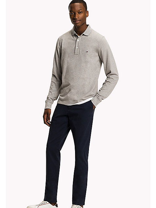 TOMMY HILFIGER Slim fit Core Modern polo - CLOUD HTR - TOMMY HILFIGER Polo's - main image