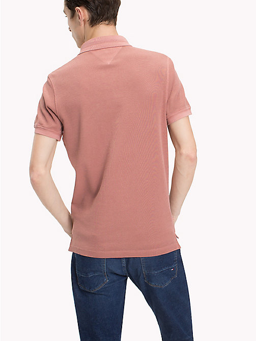 TOMMY HILFIGER Slim fit polo van geverfd garen - DUSTY ROSE -  T-Shirts & Polo's - detail image 1