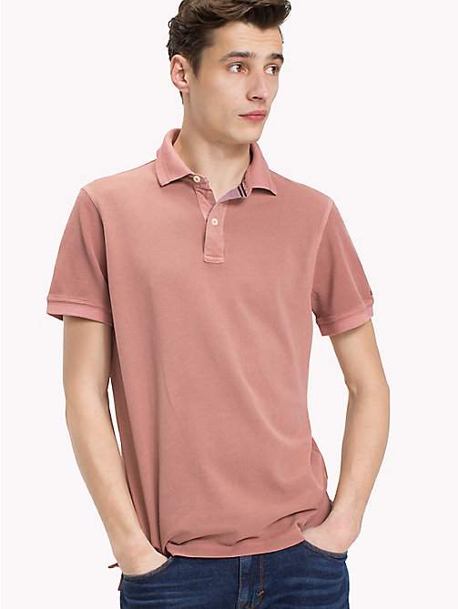 TOMMY HILFIGER Slim fit polo van geverfd garen - DUSTY ROSE -  T-Shirts & Polo's - main image