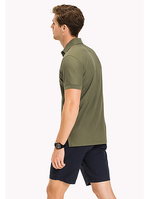 TOMMY HILFIGER Regular Fit Polo Shirt - FOUR LEAF CLOVER - TOMMY HILFIGER Polo Shirts - detail image 1