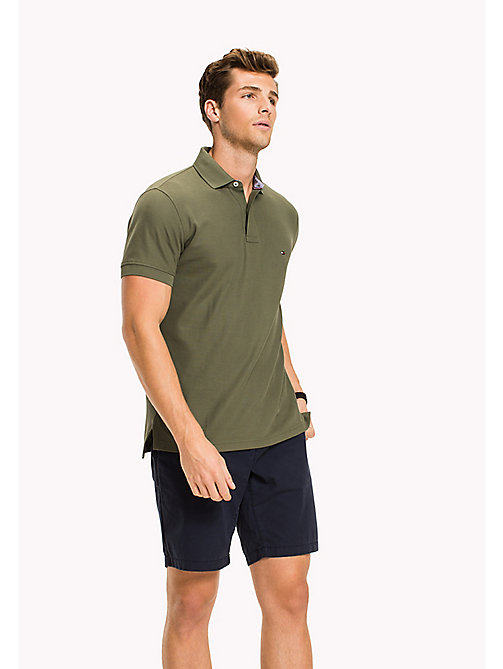 TOMMY HILFIGER Regular Fit Polo Shirt - FOUR LEAF CLOVER - TOMMY HILFIGER Polo Shirts - main image