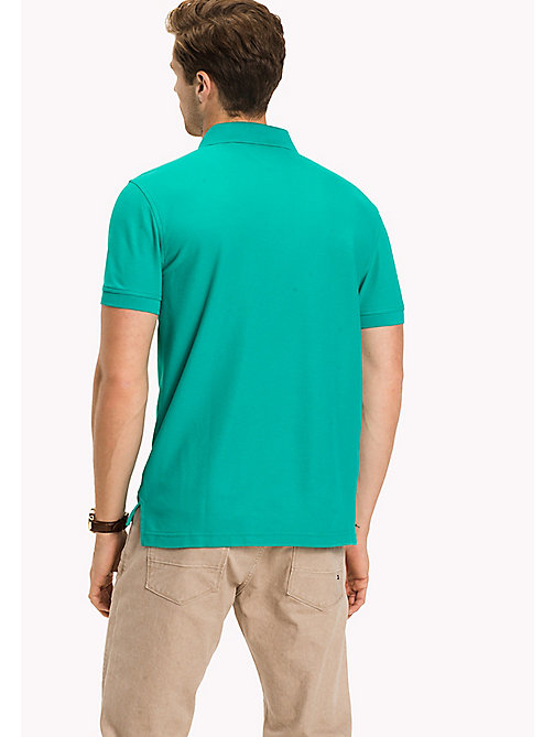 TOMMY HILFIGER Regular fit polo - SPECTRA GREEN - TOMMY HILFIGER T-Shirts & Polo's - detail image 1