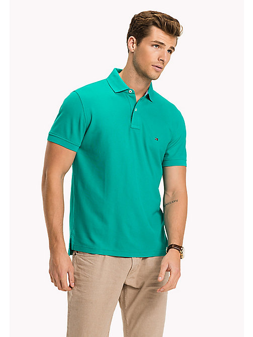 TOMMY HILFIGER Regular fit polo - SPECTRA GREEN - TOMMY HILFIGER T-Shirts & Polo's - main image