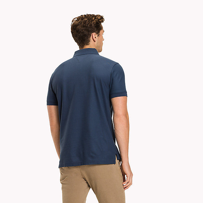 TOMMY HILFIGER Regular fit polo - ANGEL BLUE - TOMMY HILFIGER Heren - detail image 1