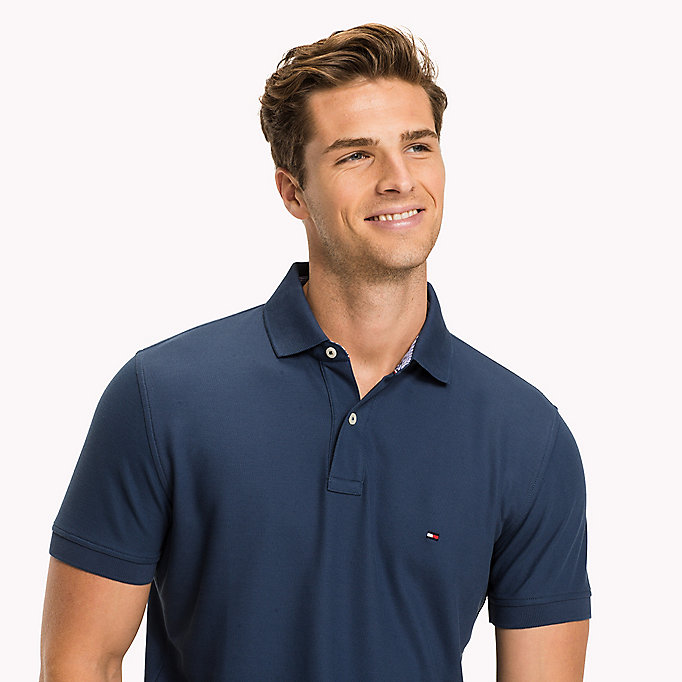 TOMMY HILFIGER Regular fit polo - ANGEL BLUE - TOMMY HILFIGER Heren - detail image 2