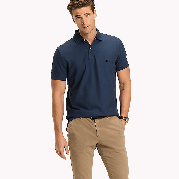 TOMMY HILFIGER Regular fit polo - ANGEL BLUE - TOMMY HILFIGER Heren - main image