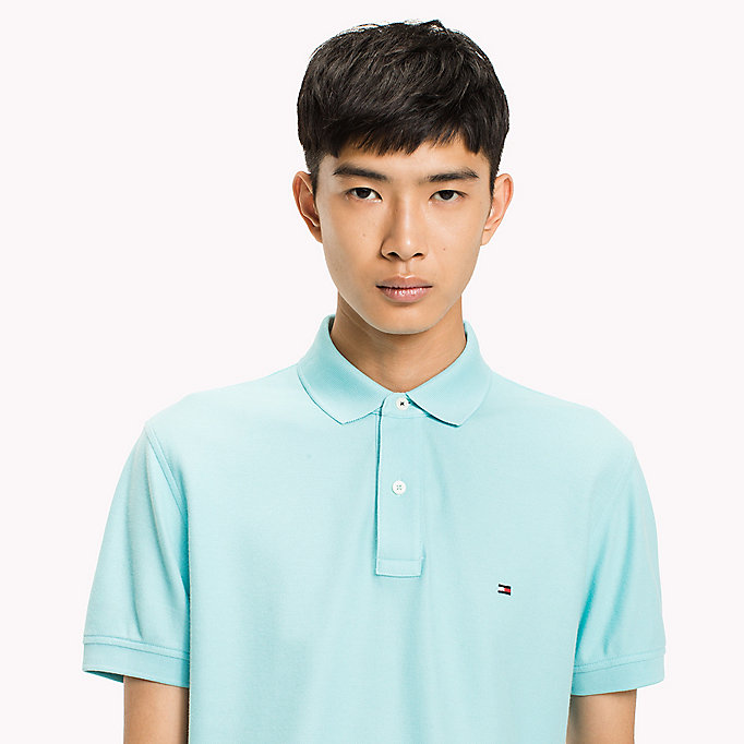 TOMMY HILFIGER Regular fit polo - MORNING GLORY - TOMMY HILFIGER Heren - detail image 2
