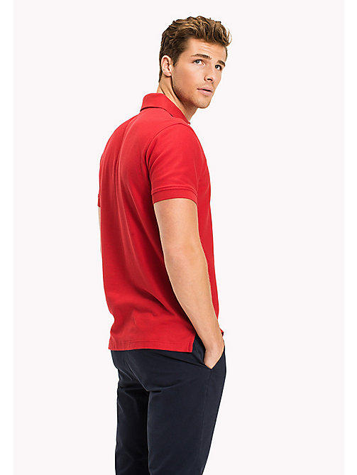 TOMMY HILFIGER Regular Fit Polo Shirt - HAUTE RED - TOMMY HILFIGER Polo Shirts - detail image 1