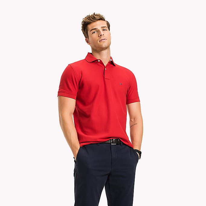 TOMMY HILFIGER Regular fit polo - LEMON - TOMMY HILFIGER Heren - main image