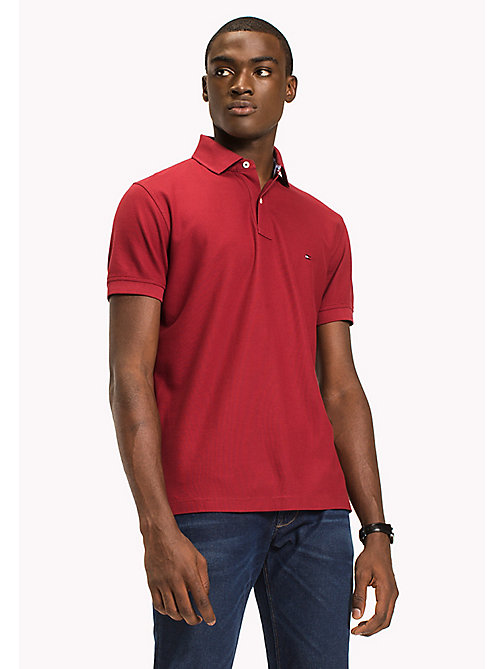 TOMMY HILFIGER Regular Fit Polo Shirt - RHUBARB - TOMMY HILFIGER Polo Shirts - main image
