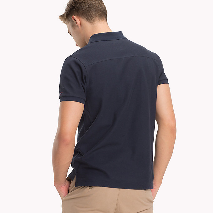TOMMY HILFIGER Slim Fit Poloshirt - RUBBER HEATHER - TOMMY HILFIGER Herren - main image 1