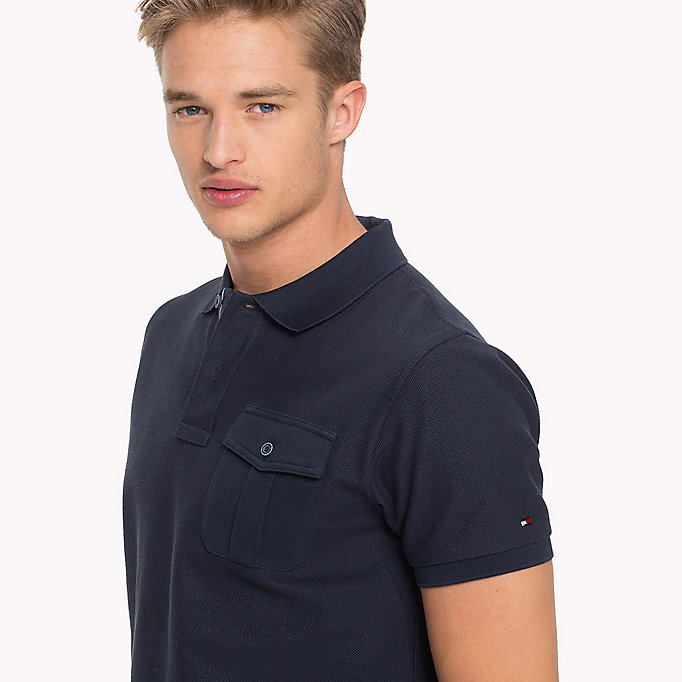 TOMMY HILFIGER Slim Fit Poloshirt - RUBBER HEATHER - TOMMY HILFIGER Herren - main image 2