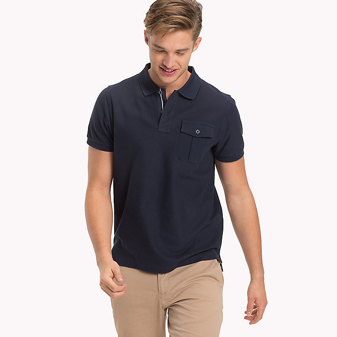 TOMMY HILFIGER Slim Fit Poloshirt - RUBBER HEATHER - TOMMY HILFIGER Herren - main image