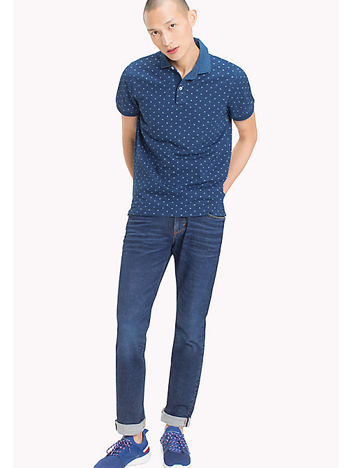 TOMMY HILFIGER Slim fit polo met print - DARK INDIGO - TOMMY HILFIGER T-Shirts & Polo's - main image