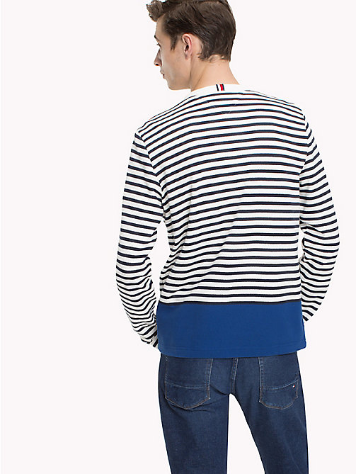 TOMMY HILFIGER Striped Piqué Jumper - SKY CAPTAIN / SNOW WHITE / LIMOGES - TOMMY HILFIGER NEW IN - detail image 1