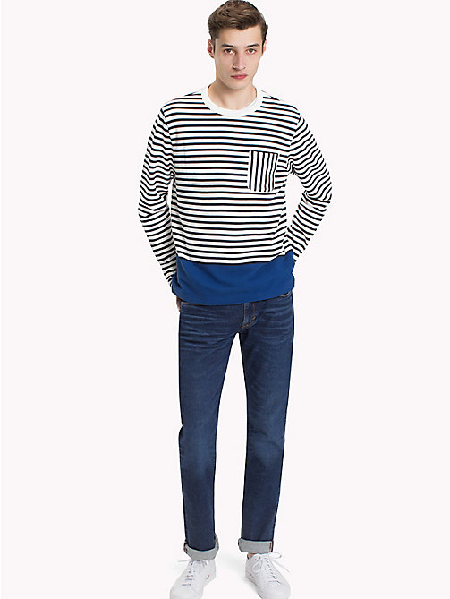 TOMMY HILFIGER Striped Piqué Jumper - SKY CAPTAIN / SNOW WHITE / LIMOGES - TOMMY HILFIGER NEW IN - main image