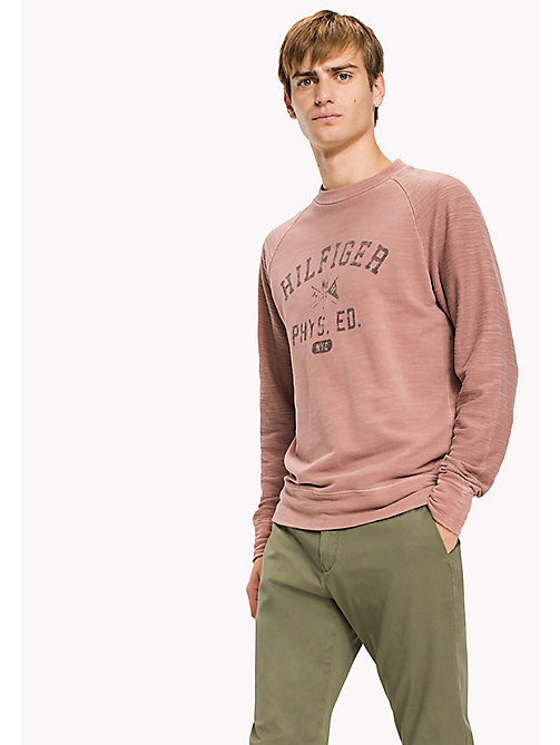TOMMY HILFIGER Crew Neck Logo Sweatshirt - DUSTY ROSE - TOMMY HILFIGER Sweatshirts - main image