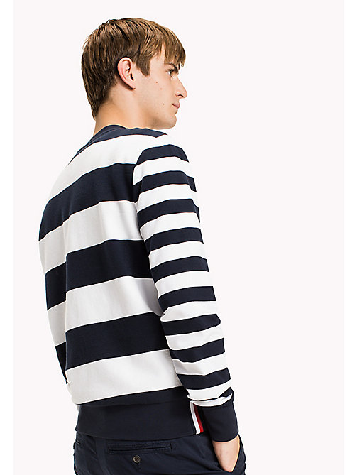 TOMMY HILFIGER Striped Crew Neck Jumper - NAVY BLAZER/BRIGHT WHITE - TOMMY HILFIGER Jumpers - detail image 1